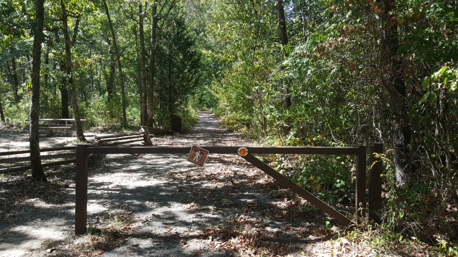 The start of the Johnnie's Creek Trail, the first trail of my autumn hike
