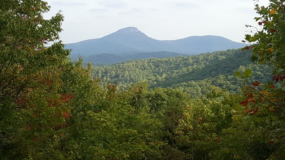 Mount Yonah as seen from the parking lot for Duke's Creek Falls.